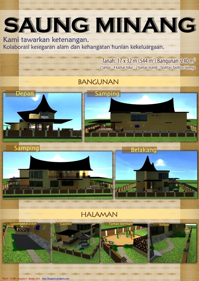 Saung Minang - Arsitektur dan Tata Eksterior